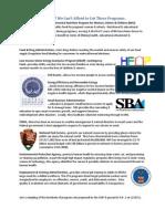 Proposed Federal Program Cuts 2-2011