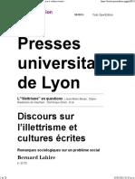 3 Lahire Discursos sobre iletrismo y cultura escrita