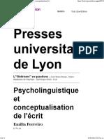 5 Ferreiro - Psicolingüistica y conceptualización de la escritura