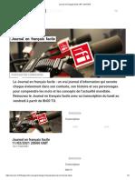 Journal en français facile _ RFI SAVOIRS