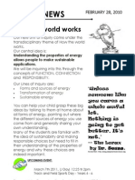Year 4 How the World Works Newsletter
