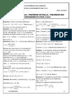 Theoreme Des Accroissements Finis Corrige Serie d Exercices 1