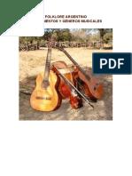 Folklore argentino. Intrumentos y géneros musicales