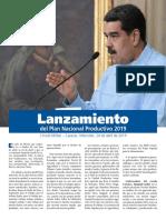 Plan Nacional Productivo 2019