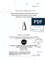 Crew Egress Procedures Developed During the Qualification Test Program for the Gemini Spacecraft at-Sea Operations