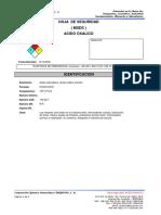 Sds Acido Oxalico