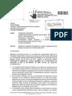 Carta  oficial  Fundación Carla Cristina
