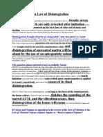 Compilation Law of Disintegration