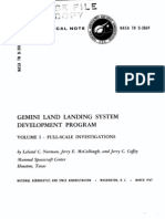 Gemini Land Landing System Development Program Volume I - Full-Scale Investigations
