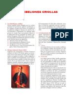 4 LAS REBELIONES CRIOLLAS Y LOS PRECURSORES
