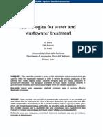 Effluent water techniques