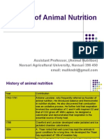 History of Animal Nutrition
