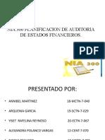 Nia 300 Planificacion de Auditoria de Estados Financieros Diapositiva (1)