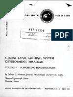 Gemini Land Landing System Development Program Volume II - Supporting Investigations