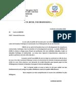 Copie de lettre de demande