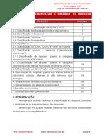 Classificacao e Estagios Da Despesa Orcamentaria