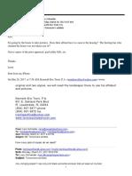 Email Trent to Schneider, Confirming Schneider's Attendance At March 28, 2017 Renewed Receivership Hearing