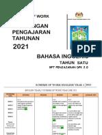 RPT ENGLISH YEAR 1 (PENJAJARAN) 2021