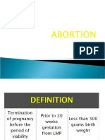 Abortion & ectopic pregnancy