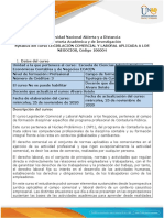 Syllabus del curso Legislación comercial y laboral aplicada a los negocios
