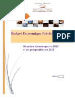 Budget économique prévisionnel 2021 _ Situation économique en 2020 et ses perspectives en 2021 (Version Fr)