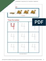 Number Tracing Worksheet - Tracing Numbers (1-10) - Tracing Number 4 - MegaWorkbook