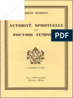 Autorite spirituelle et pouvoir temporel - Rene Guenon [1929]