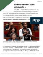 « La France insoumise est sous influence indigéniste »