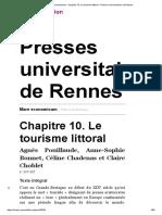 Mare economicum - Chapitre 10. Le tourisme littoral - Presses universitaires de Rennes