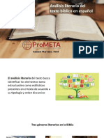 Analisis literario del texto biblico