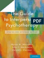 Klerman, Gerald L._ Markowitz, John C._ Weissman, Myrna M. - The Guide to Interpersonal Psychotherapy-Oxford University Press (2018)