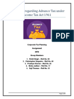 Topic 6_Provisions regarding advance tax under Income Tax Act 1961__Corporate Tax Planning
