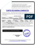 FORMATO MODELO EJEMPLO Carta de Buena Conducta