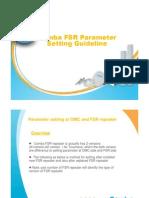 Comba FSR parameter setting guideline