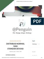 DISTRIBUSI NORMAL DAN STANDAR DEVIASI – @Penguin