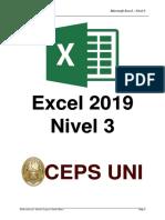 Manual Excel Nivel 3 - 2019