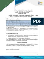 Guia de actividades y Rúbrica de evaluación- Unidad 1 - Pre -Tarea Actividad de reconocimiento de curso