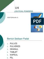 7. SERBUK (PULVIS-PULVERES)