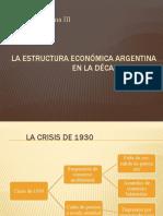 La política económico-social de la década de 1930