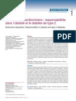 Perturbateurs endocriniens  responsabilités dans l'obésité et le diabète de type 2