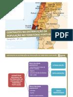 Distribuição da população em Portugal