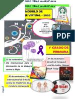 XXXIV MÓDULO DE APRENDIZAJE VIRTUAL 2020 - 1°  DE PRIMARIA