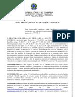 NOTA TÉCNICA 01 2021 DO GT NACIONAL COVID-19