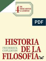 Tomo IV De Descartes a Leibniz