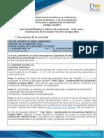 Guia de actividades y Rúbrica de evaluación - Post Tarea - Construcción de documento maestro y pagina web.