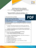 Guía de actividades y rúbrica de evaluación – unidad 1 Fase 1 Analisis de usos y apropiaciones del ciberespacio