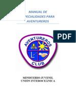 Manual de Especialidades para Aventureros