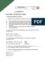 logica proposiciones taller 11 # 1
