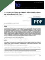 CRITERIOS DISEÑO MOBILIARO URBANO - diseño +