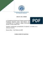 Fallecimiento Carlos Menem